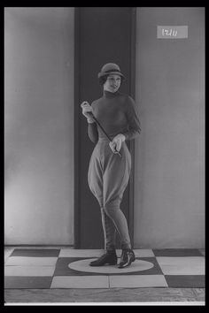 Glass Half Plate  Image of a woman modelling riding wear for the tailor Harry Hall. Published in Illustrated Sporting & Dramatic News.    Maker:  Bassano Studio  Production Date:  1933-12-07