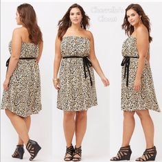 Dress Animal print dress,beautiful for this summer, bran new Lane Bryant Dresses Strapless