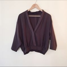Forever 21 | Brown blouse Button snap in the front. Elastic on the back waist Forever 21 Tops Blouses