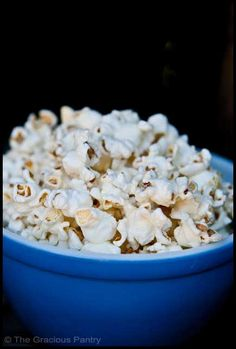 Clean Eating Coconut Popcorn  Ingredients  2 cups popped popcorn (organic is best)  2 tsp. coconut oil – warmed  Directions  Step 1 – Mix well!  Eat and Enjoy!