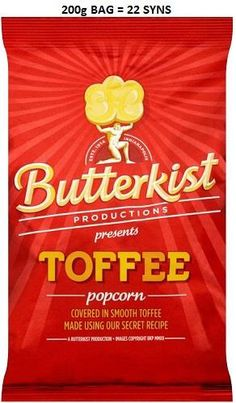 Butterkist Toffee Popcorn at Ocado My Favorite Food, My Favorite Things, Favorite Recipes, Toffee Popcorn, Slimming World Syns, Sweet N Sour Chicken, Sugar Intake, Snack Recipes