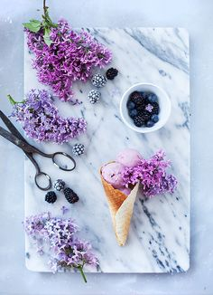 Blackberry ice cream.
