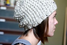 Ravelry: Brandy Melville inspired chunky beanie pattern by Hannah Schroeder