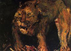 Tigron, Huile sur Toile, - (Oskar Kokoschka)