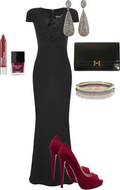 """Black Tie Wedding - Guest Outfit Inspo"" by alyssa-whitney ❤ liked on Polyvore"