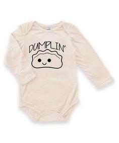 $9.99 marked down from $24! Cream 'Dumplin'' Bodysuit - Infant #chicbaby #baby #zulilyfinds