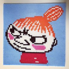 Little My - Moomin perler beads by missmusicnonstop Hama Beads Patterns, Beading Patterns, Knitting Patterns, Little My Moomin, Pixel Pattern, Iron Beads, Charts And Graphs, Knitting Charts, Bead Art