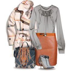 Phillip Lim Leather Skirt, created by yasminasdream on Polyvore