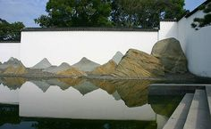 Looks like mountains? These are rocks in the garden of the Suzhou Museum!