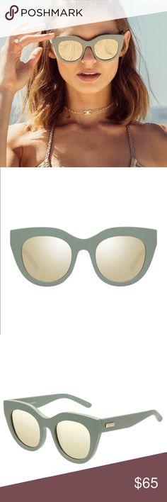 "8ad9510458e9a NWT- LE SPECS ""AIR HEART""-MATTE OLIVE GOLD Glasses DESCRIPTION   Thick"