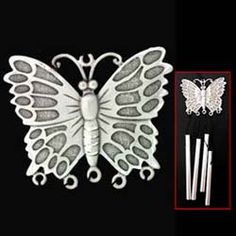 Butterfly Small Pewter Wind Chime