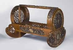 """1750 Turkish Cradle at the Philadelphia Museum of Art, Philadelphia - From the curators' comments: """"Upon the birth of an Ottoman prince or princess, a cradle such as this would have been among the gifts carried into the palace in an elaborate procession."""""""