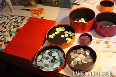 How to make repurposed paint chip wall art — lansdownelife.com