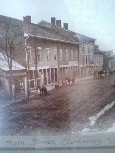 Clarksburg, WV Old Pictures, Old Photos, Appalachian Mountains, Virginia Mountains, West Virginia History, Us History, Family History, Virginia Homes, Mountain States