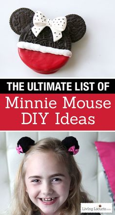 The Ultimate List of Minnie Mouse Craft Ideas! Party Ideas, DIY Crafts and Disney themed fun food recipes. So many fun ideas for a Disney Park vacation or birthday party! LivingLocurto.com