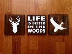 Cave Inspiration Man Cave Inspiration - see inspiration for a hunting cabin in the woods!Man Cave Inspiration - see inspiration for a hunting cabin in the woods! Diy Interior, Cabin Nursery, Woodland Nursery, Wood Nursery, Man Cave Inspiration, Duck Silhouette, Duck Nursery, Hunting Signs, Deer Hunting Quotes