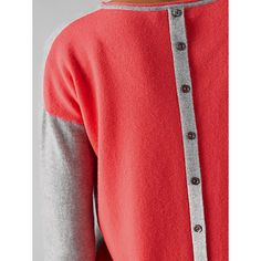Buy Cocoa Cashmere Colour Block Button Back Cashmere Jumper 4f98d05b3