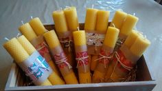 Xmas beeswax candles! Love!