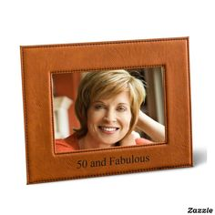 Personalized Black 5X7 Rawhide Leatherette Frame