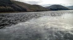 St Marys loch frozen Biking, Scotland, Frozen, Wanderlust, Explore, Mountains, World, Beach, Water