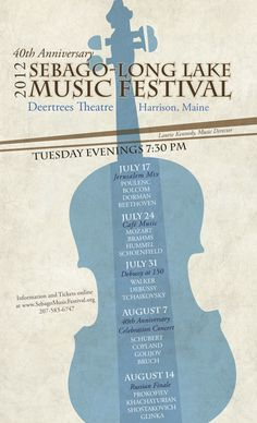 Sebago-Long Lake Music Festival Poster by Shennah Derstine, via Behance