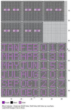 Minecraft cube calendar