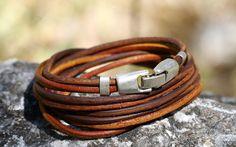 FREE SHIPPING,leather wrap bracelet, leather boho bracelet, leather cord bracelet, leather jewellery, mens leather bracelet, unisex bracelet