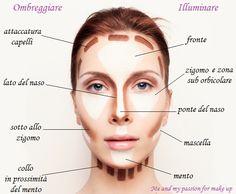 """Questa tecnica fa parte del cosiddetto trucco correttivo, ed è molto utile per enfatizzare i volumi naturali del viso o per correggere eventuali """"difetti""""."""