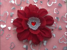 Valentine's Day Hair Flower Tabi's Creative Creatures Tabi's Elegant Hair Pieces by TabiCreativeCreature on Etsy