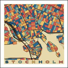STOCKHOLM City Map - Sweden - Giclee Fine Art Print - Abstract - Modern - Wall Art - Gift - Home - Office - Gamla Stan - Old Town -Scandinavia *Printed with Epson UltraChrome K3™ archival INK *Print PERMANENCE rating of up to 125 YEARS *TEXTURED MATTE surface produces prints with a MUSEUM QUALITY appearance *ACID FREE base for ultimate ARCHIVABILITY (up to 125 years) *260 gsm weight for DURABILITY *Bright white surface for excellent COLOR reproduction *This paper produces art with vivid…