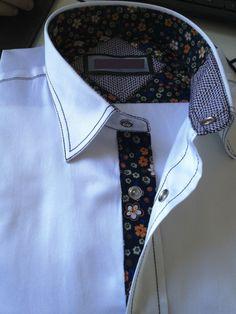 Design Name: C-135 Orange  MOQ: 50pcs.  %100 Cotton Men Shirt