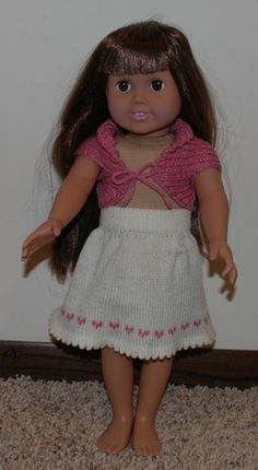 Free knit pattern skirt for american girl doll