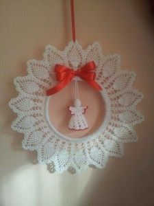 Items similar to Crochet Christmas wreath Christmas decoration Gold white decor Crochet Christmas ornament Handmade wreath tree toy Winter wedding decor on Etsy Crochet Christmas Wreath, Crochet Wreath, Crochet Christmas Decorations, Crochet Ornaments, Christmas Crochet Patterns, Holiday Crochet, Crochet Snowflakes, Handmade Ornaments, Crochet Gifts