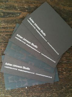 ::INKY SOLUTIONS:: Adrian Johnson studio Business cards