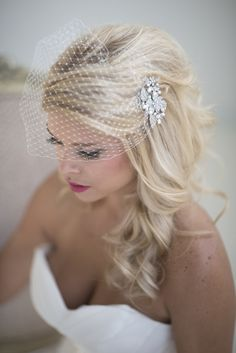 Wedding Birdcage Veil with Comb