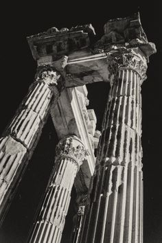 Fine Art image of the Temple of Trajan Acropolis of Pergamon taken in Bergama, Turkey. All Rights Reserved © Marie-Eve Painchaud Acropolis, Professional Photography, Art Images, Temple, Eve, Turkey, Fine Art, Black And White, Landscape