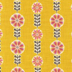 Daisy Chain Petunia from the Just Dandy fabric collection by Josephine Kimberling for Robert Kaufman.