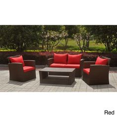 Spice up your patio furnishings with the St. Lucia Settee Group. This outdoor set features a sturdy powder-coated Aluminum/Resin Weave build and two striking Outdoor Fabric Color Options.