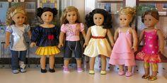 Crowned Cuties - Sleeping Beauty, Modern Disney Princess ensembles for American Girl doll. $33.00, via Etsy.