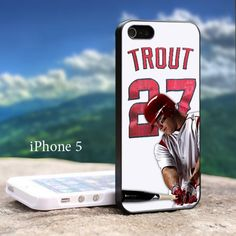 Mike Trout Baseball Player - Design For iPhone 5 Black Case   GoToArt - Accessories on ArtFire