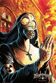 nun in gas mask Fallout Art, Fallout Posters, Gas Mask Art, Masks Art, Gas Masks, Gas Mask Drawing, Tattoo Mascara, Fantasy Posters, Apocalypse Art