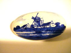 Vintage Blue Delft China Made In Holland Pin or by parkledge, $20.00