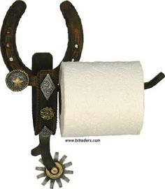 Spur Toilet Paper Holder-Texas. This is a great accessory (and an important one) for your Texas and Western Bathroom Decor!