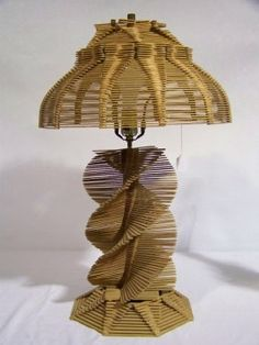 Popsicle Stick Lamps Patterns | Popsicle Stick Lamp Pattern