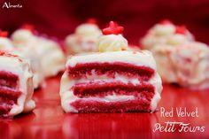 Red velvet petit fours