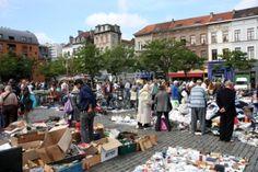 Place du Jeu de Balle Flea Market. Brussels, Belgium