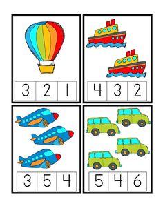 Preschool Printables: Transportation unit including math, writing, etc. Kids Math Worksheets, Preschool Learning Activities, Preschool Printables, Kindergarten Math, Preschool Activities, Transportation Theme Preschool, Transportation Worksheet, Numbers Preschool, Math Numbers