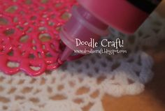 Start with a doily or pattern.     Seriously just google doily...print off a pic and you are good to go!   Cover with wax paper.   U...