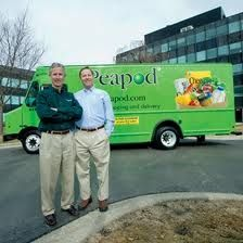 Founders Andrew and Thomas Parkinson in front of a Chicago delivery truck.