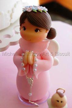 Michelle Campos Art & Biscuit: anjinho de biscuit